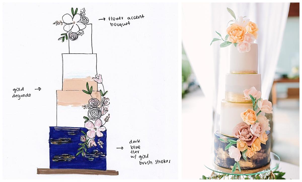 Brooke and Shahin Wedding Cakeology Cake