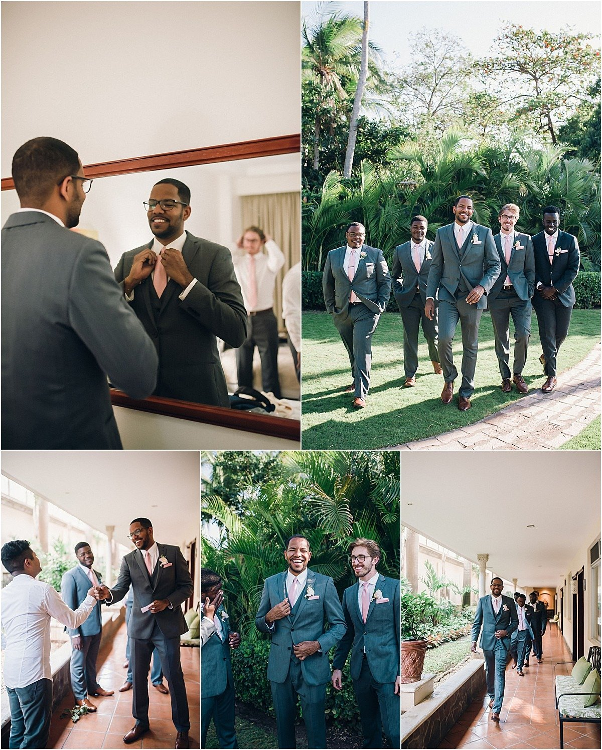 groomsmen all in grey