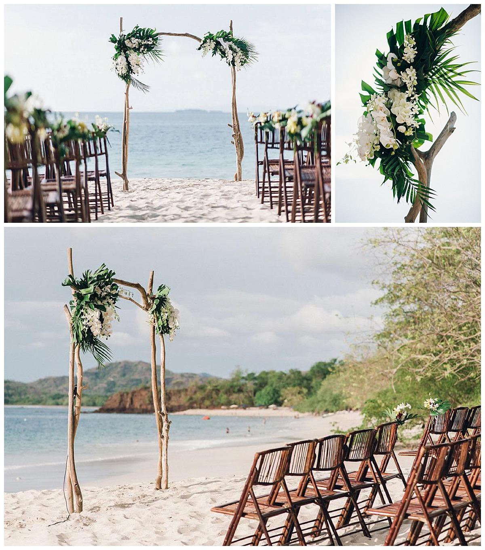green and white wedding design