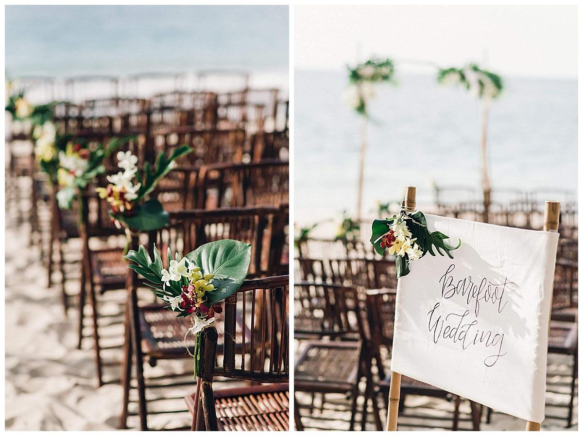 barefoot conchal wedding decor