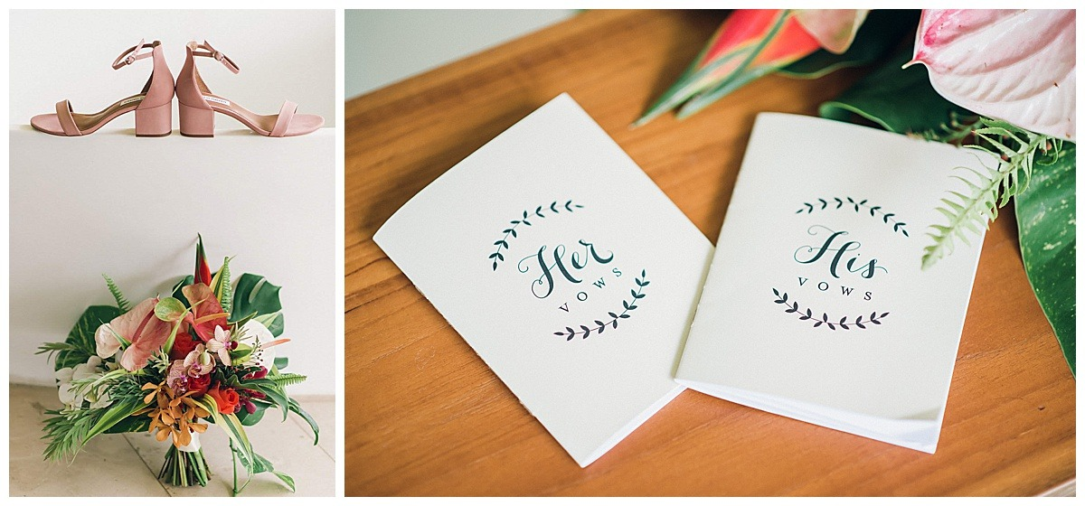 his and her custom vows pamphlet