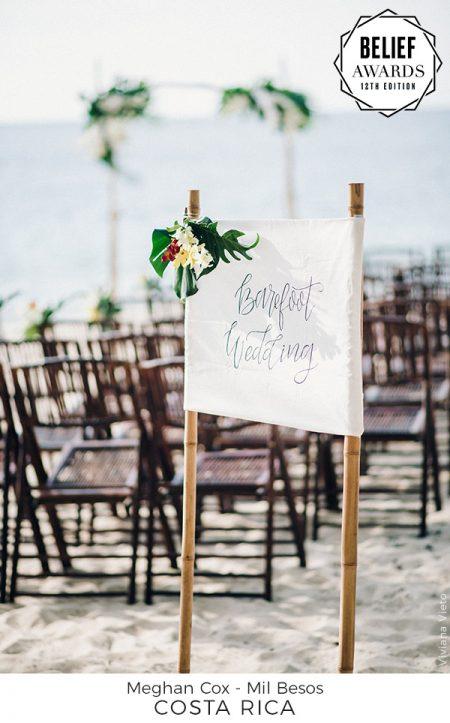 Best Wedding Concept Award signage