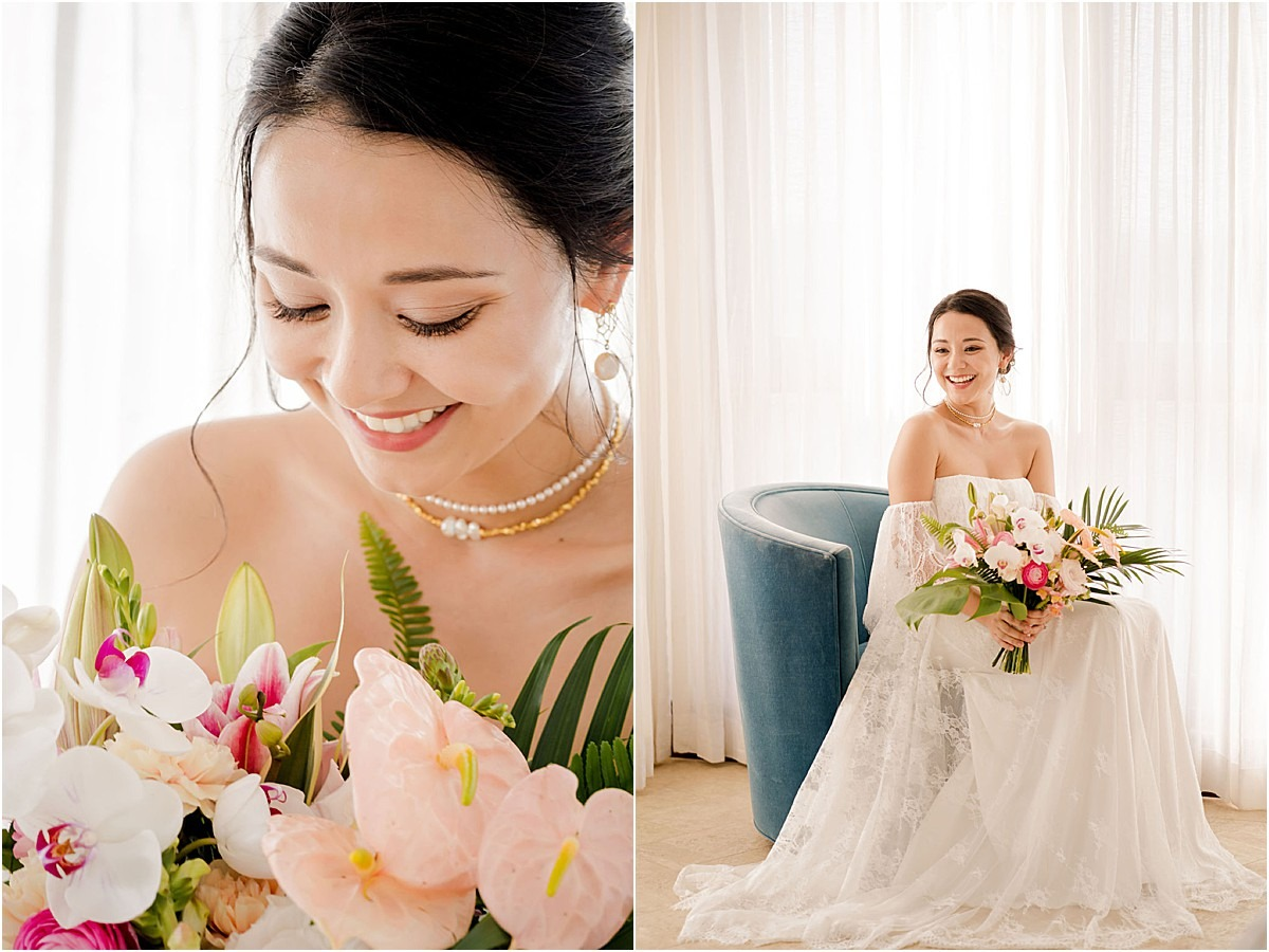 bridal portrait asain bride love