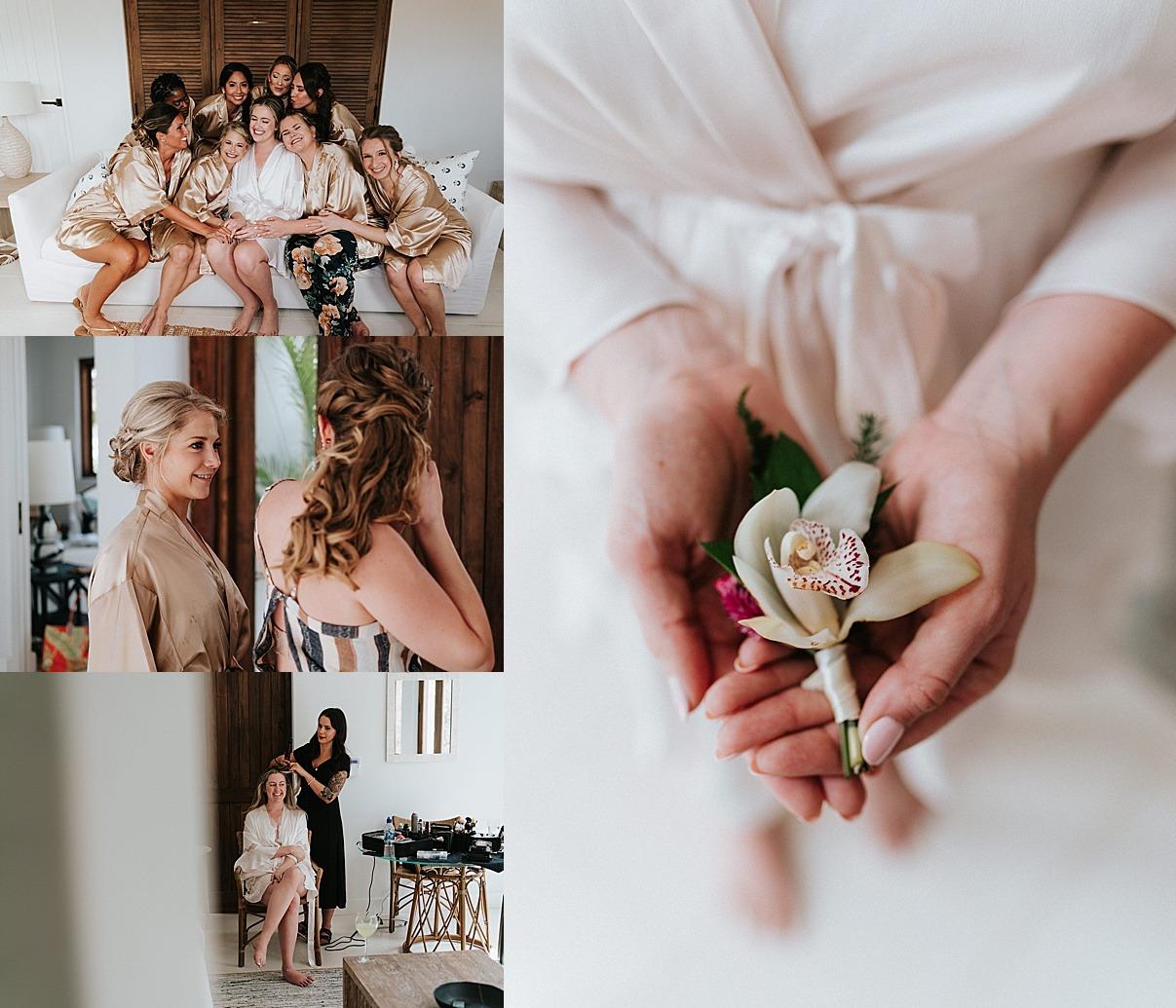 bride details girls morning