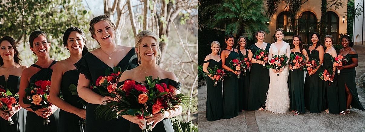 bridesmaids love green emerlad wedding