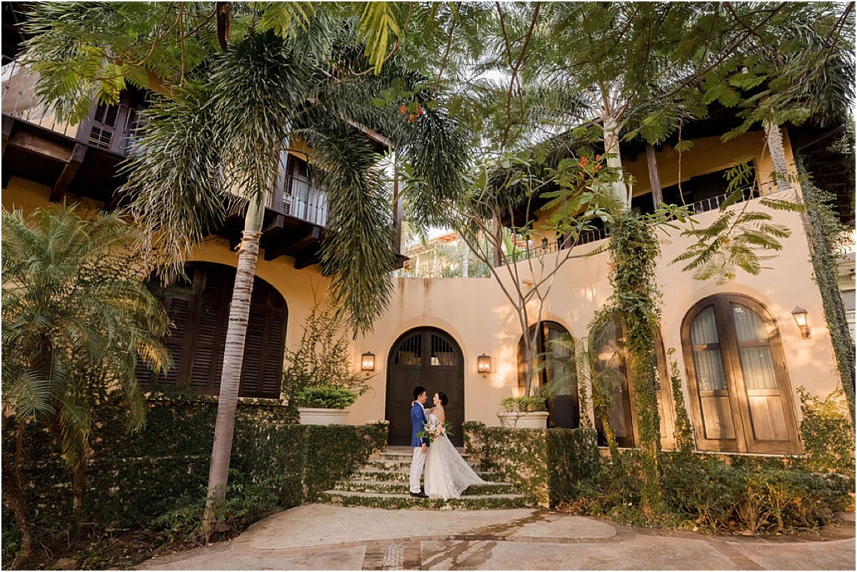 couple portrait love villa wedding venue las catalinas dreamy wedding day costa
