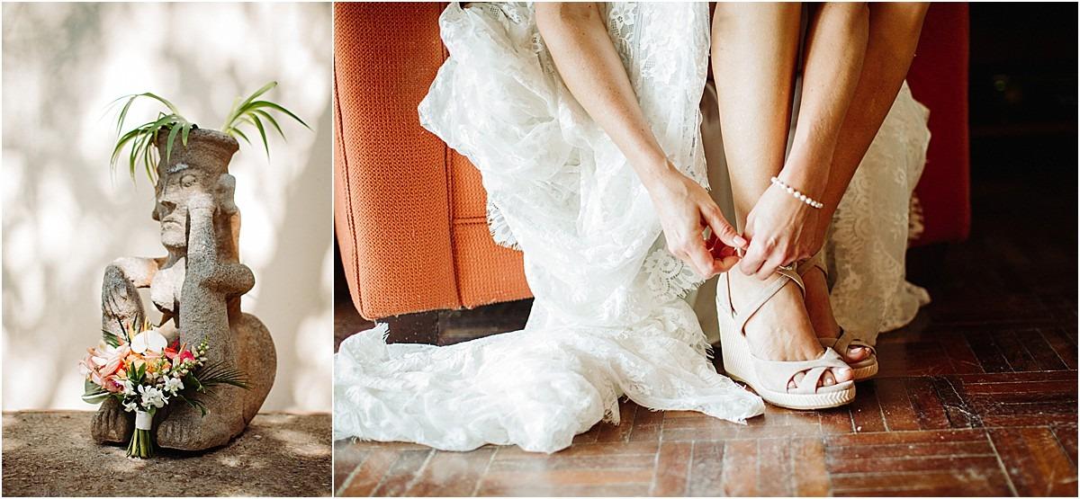 getting ready bride shoes florasl