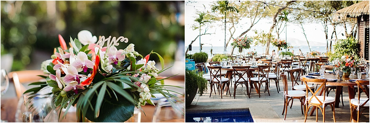 reception lvoe decor tropical langosta beach