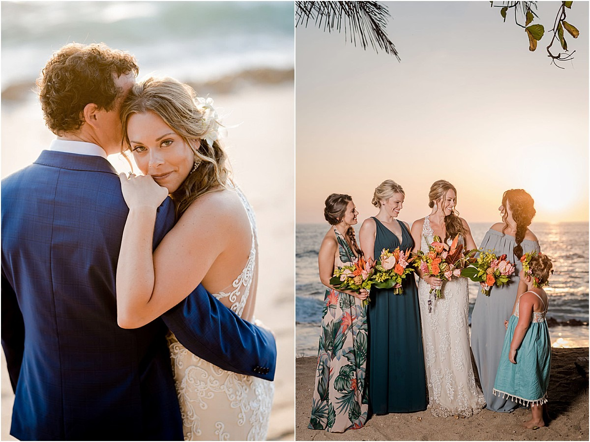 sunset portraits costa rica wedding photographer