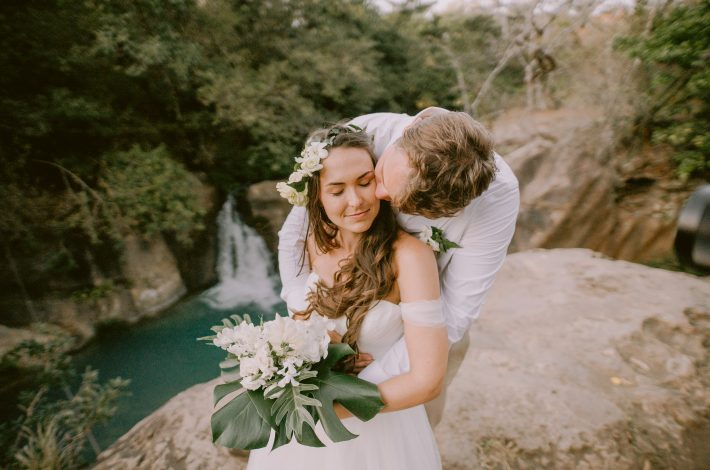 sustainable off grid waterfall wedding cover