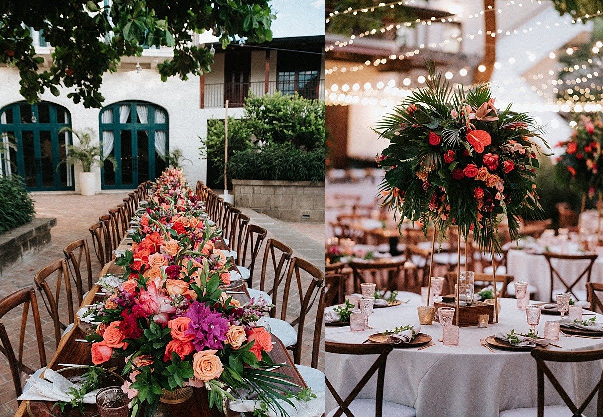 table top las catalinas wedding