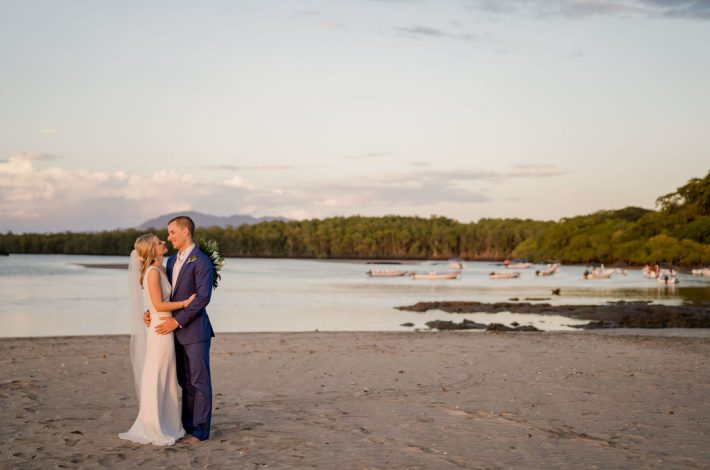 classic blue and white tamarindo wedding