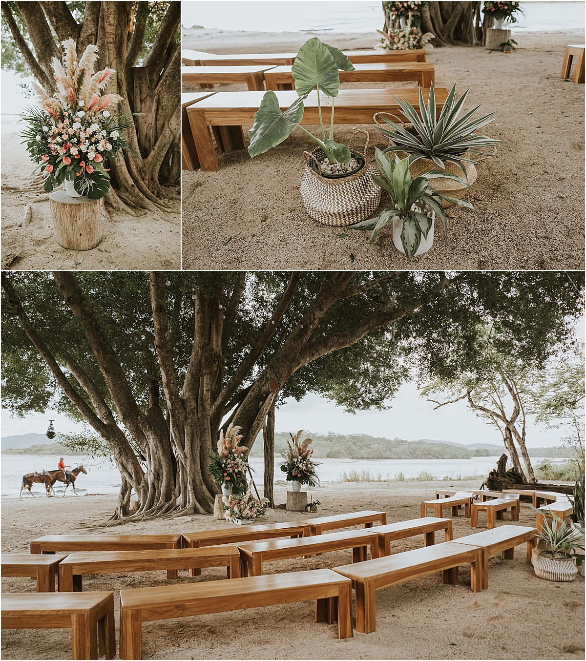 ceremony decor design with natural touches