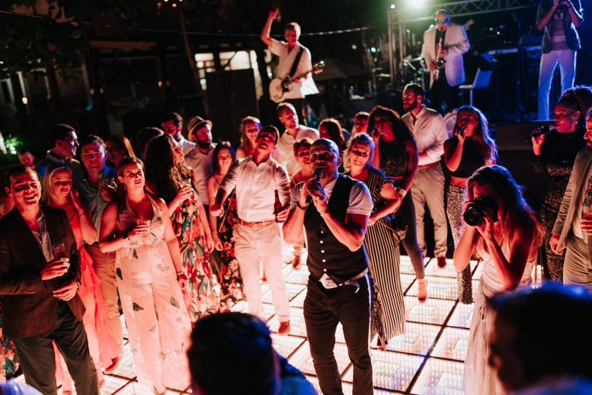 Live Band Costa Rica Wedding Party on the Moon