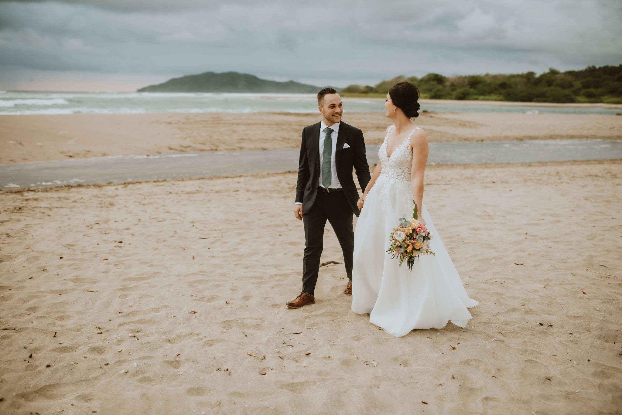 Bride Groom Costa Rica Destination Beach Wedding