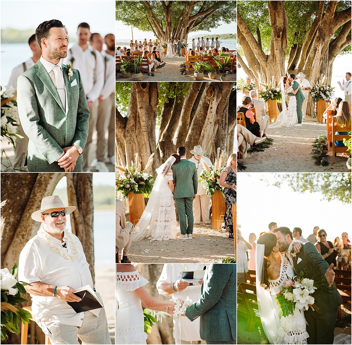 ceremony love green suit