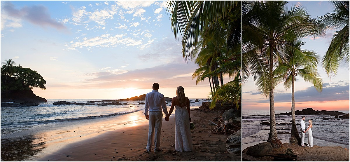 couple costa rica sunset love