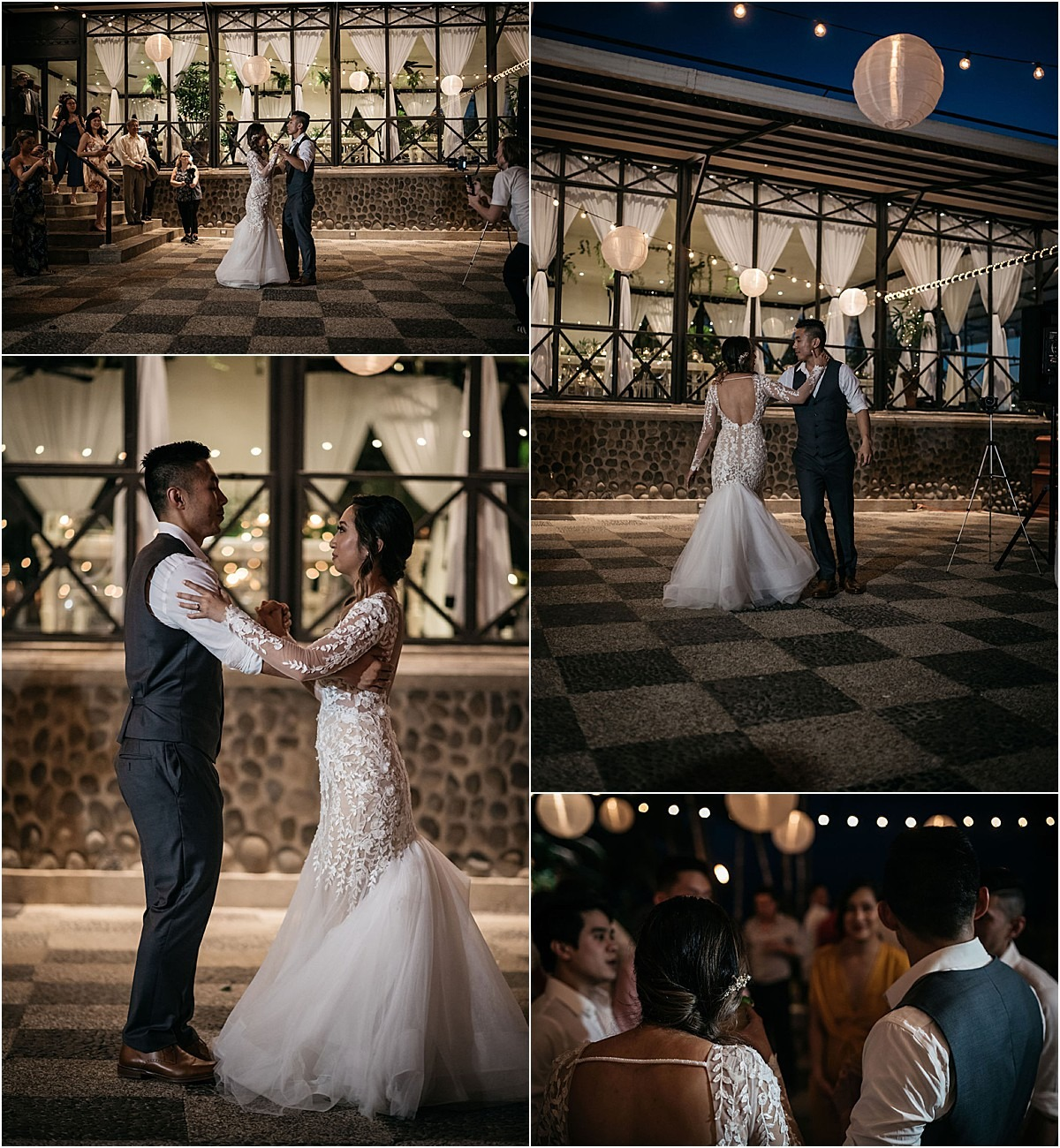 first dance in the outside of villa