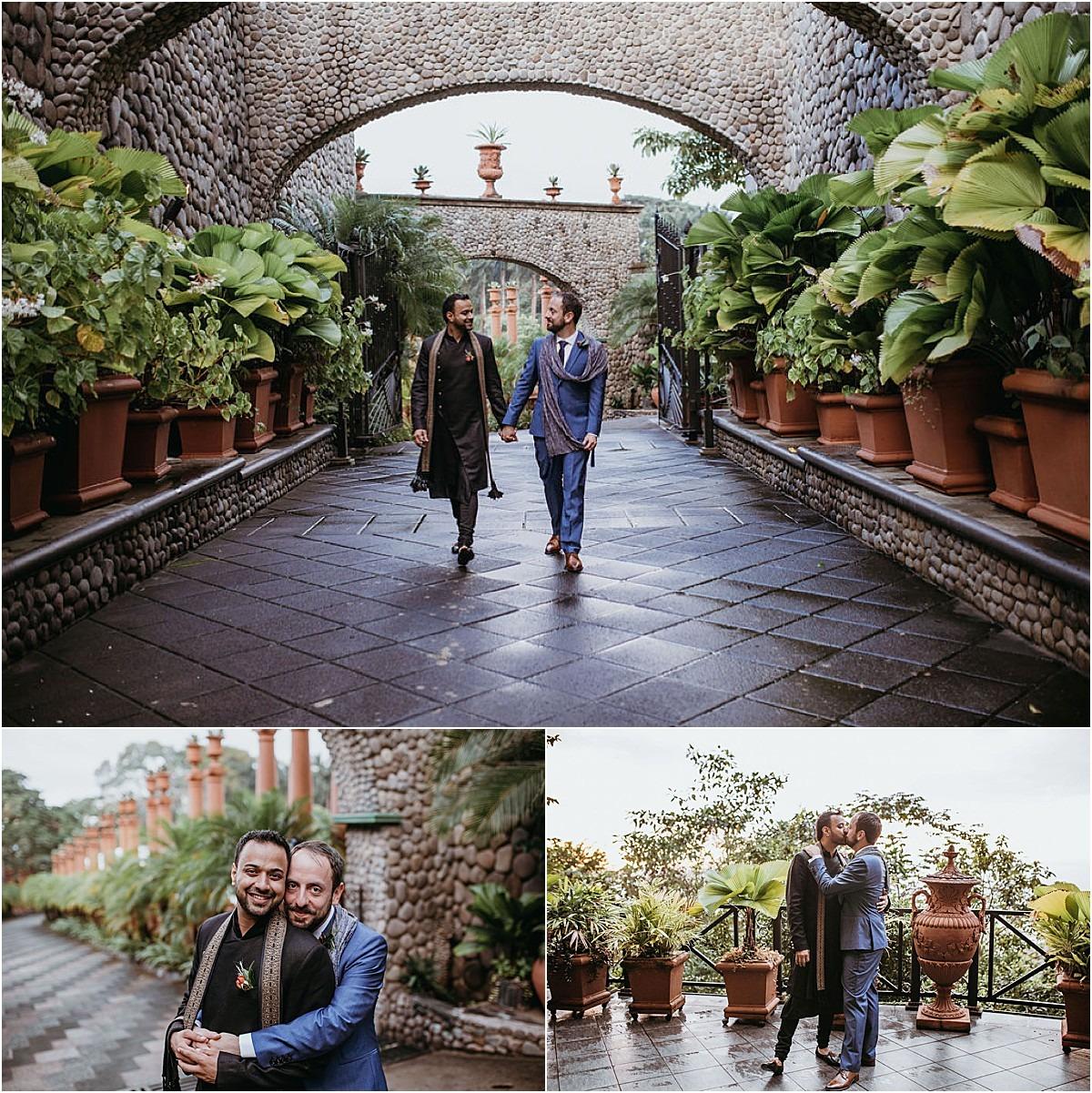 grooms kissing same sex wedding