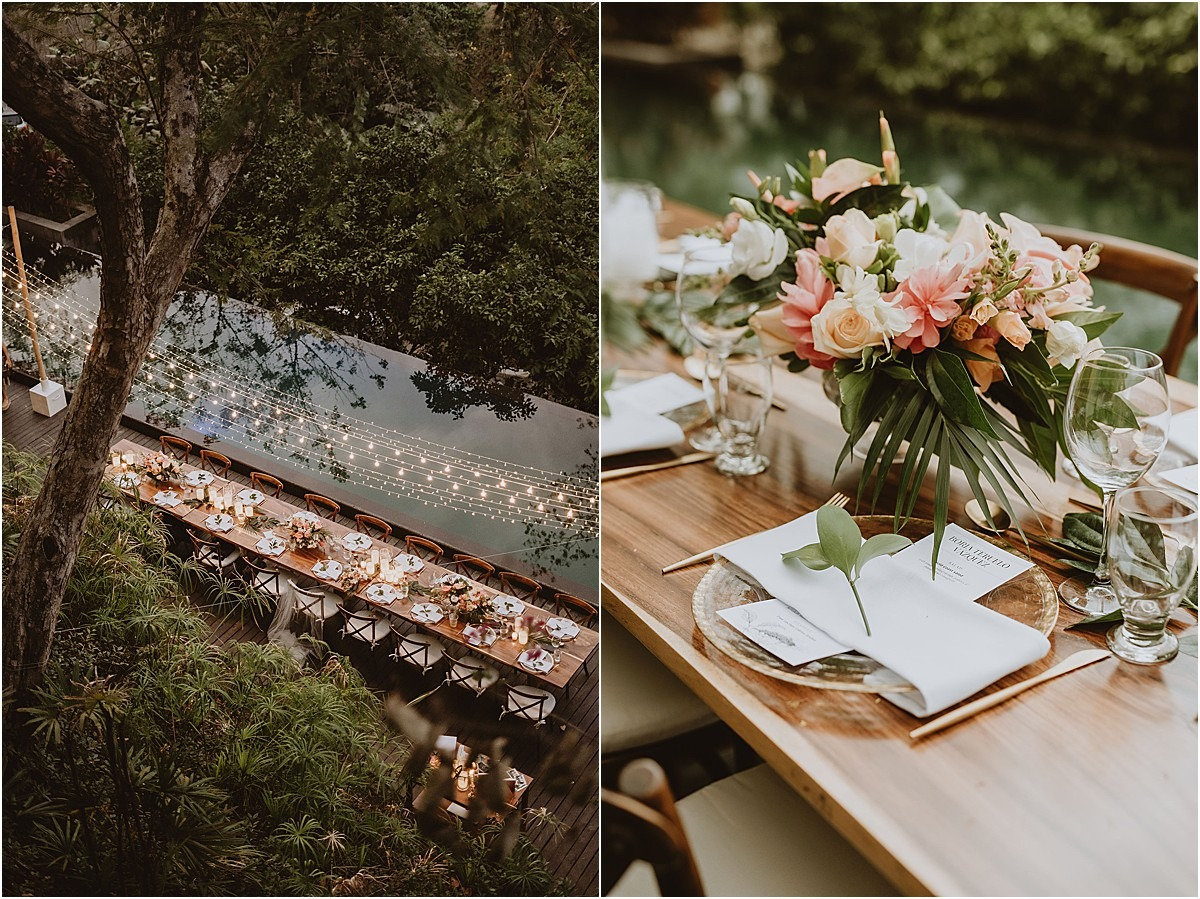 night table wedding villa costa rica