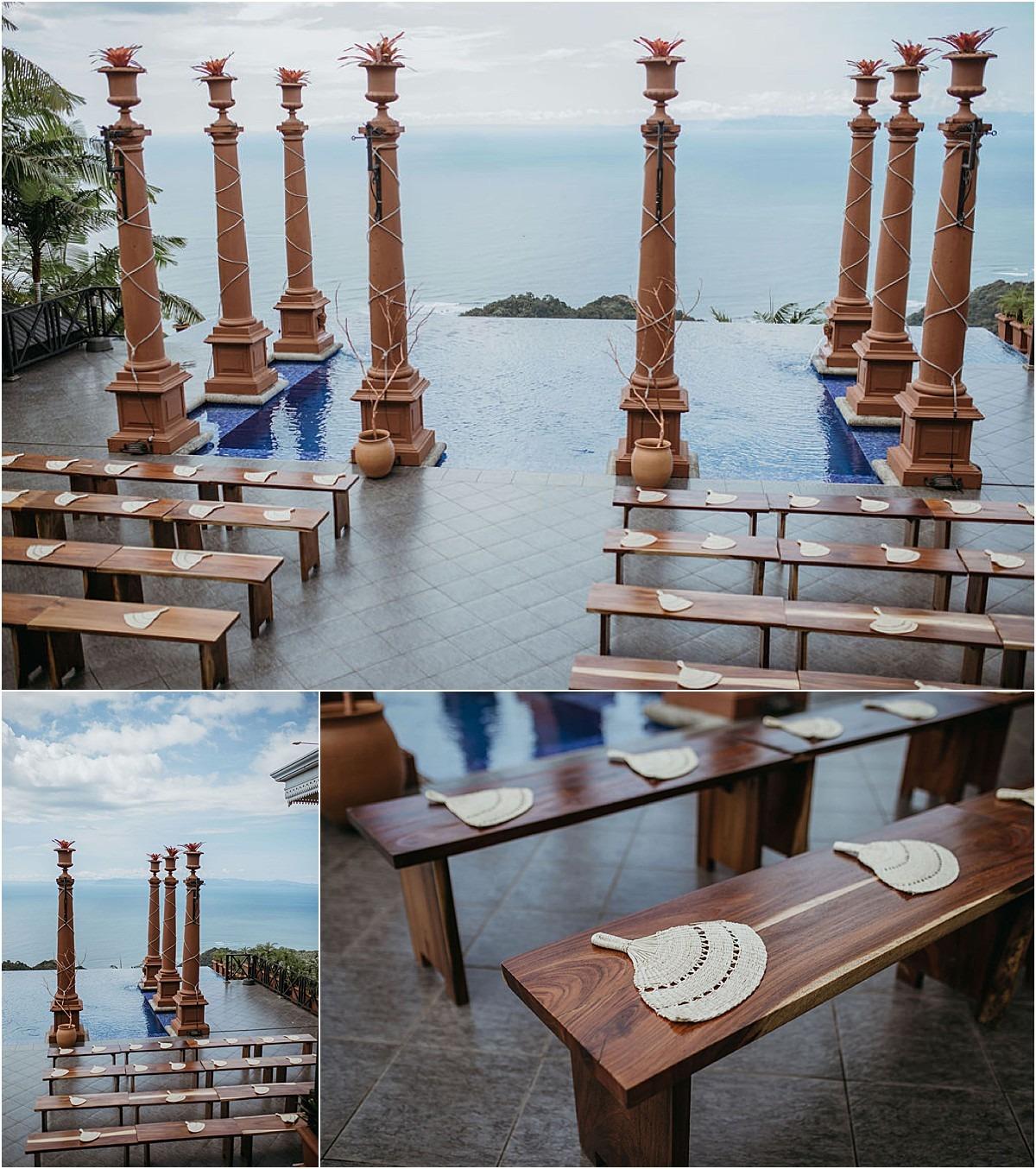 wedding fans custom villa details