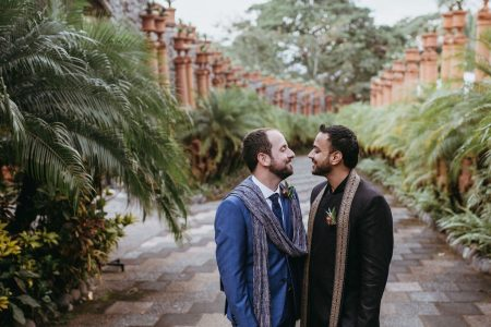 Multicultural Same Sex Wedding in villa caletas