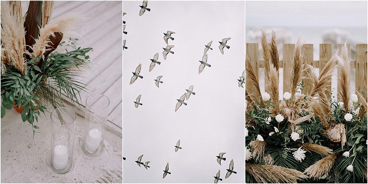 artsy wedding birds ceremony venue