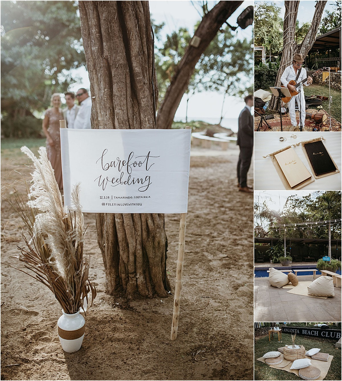 barefoot beach wedding in langosta