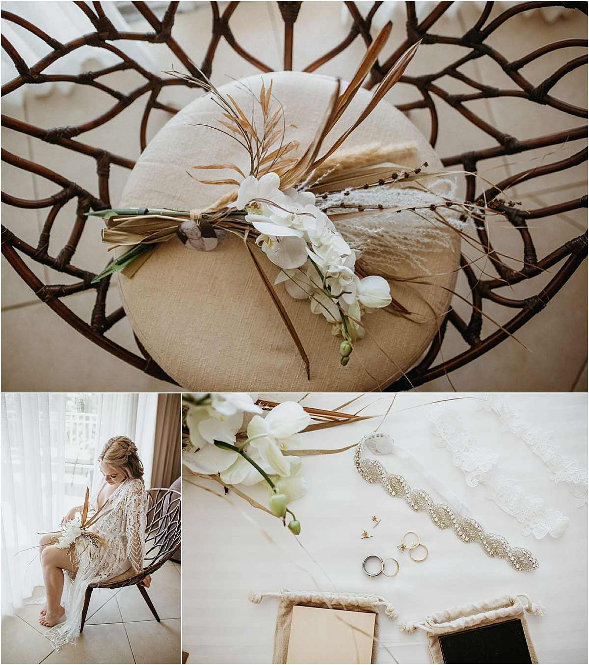 bridal close up on accessories
