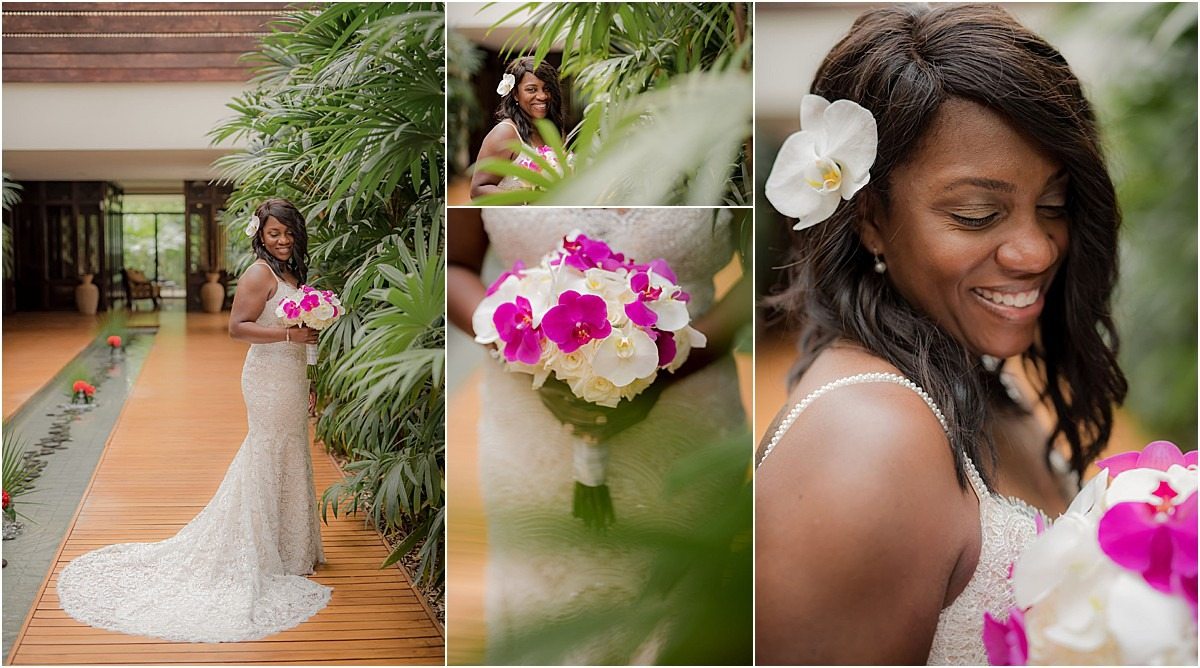 bridal flowers hot pink and white