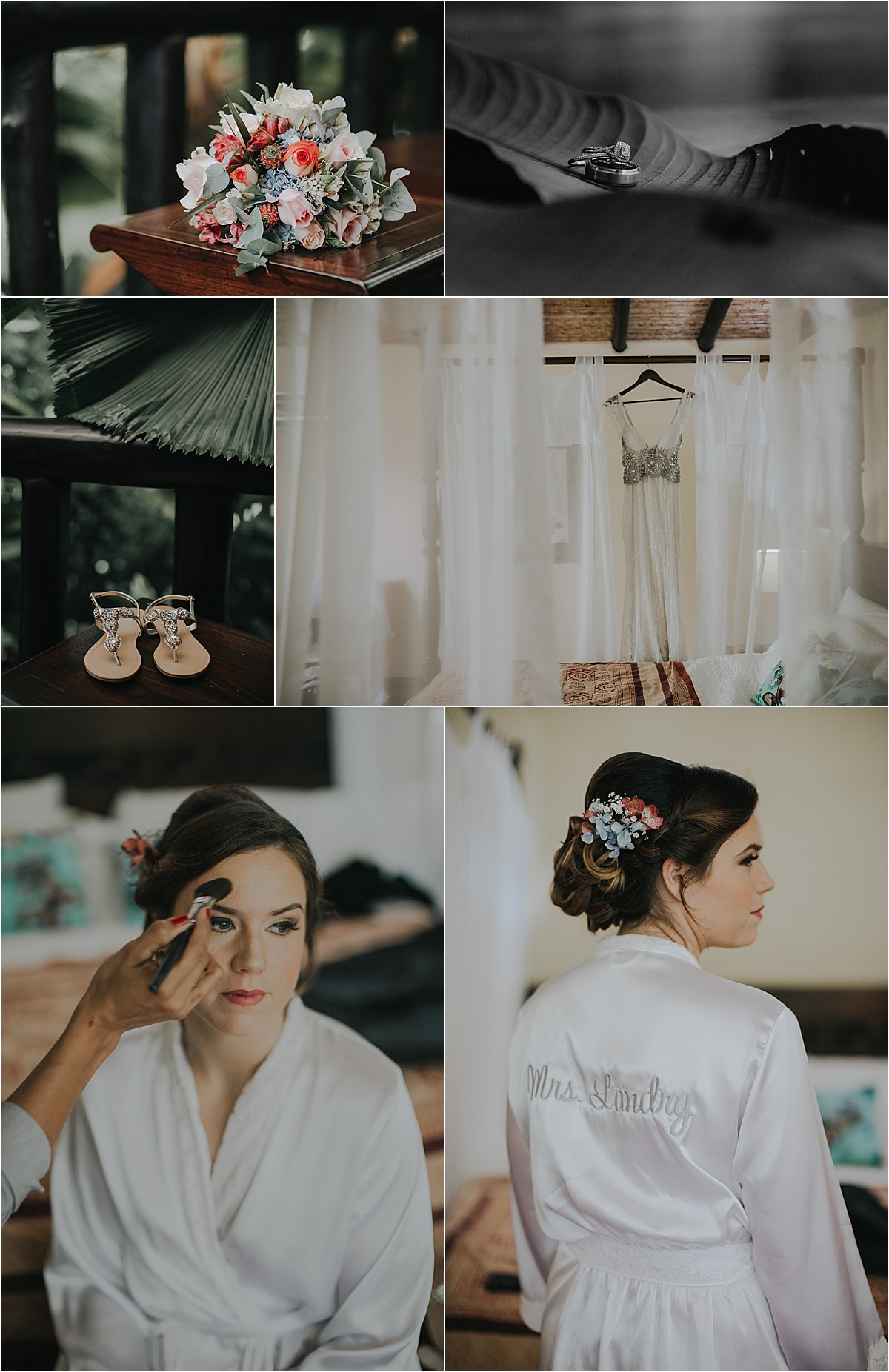 bridal morning in la fortuna robes