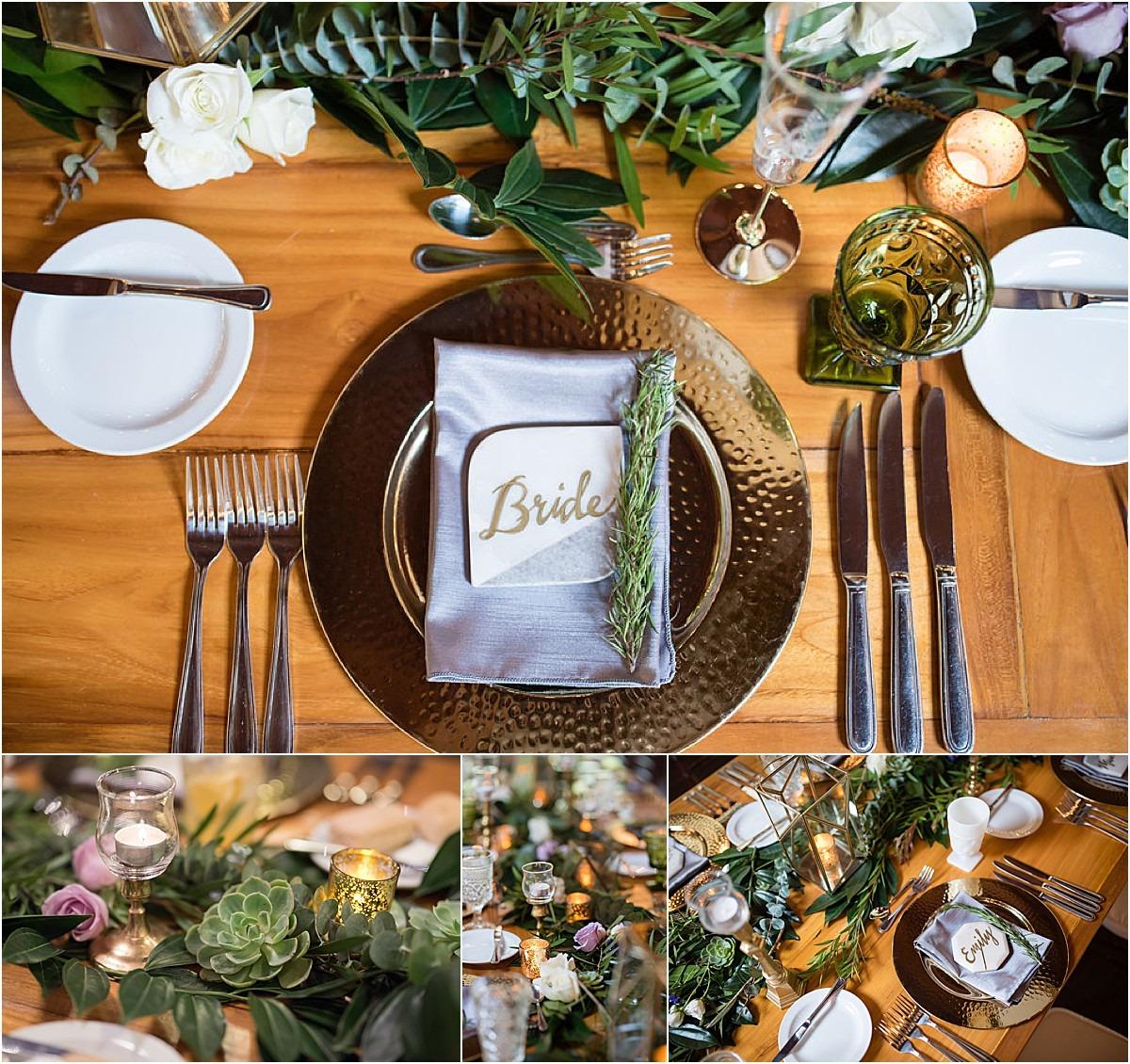 bride table name cute decor