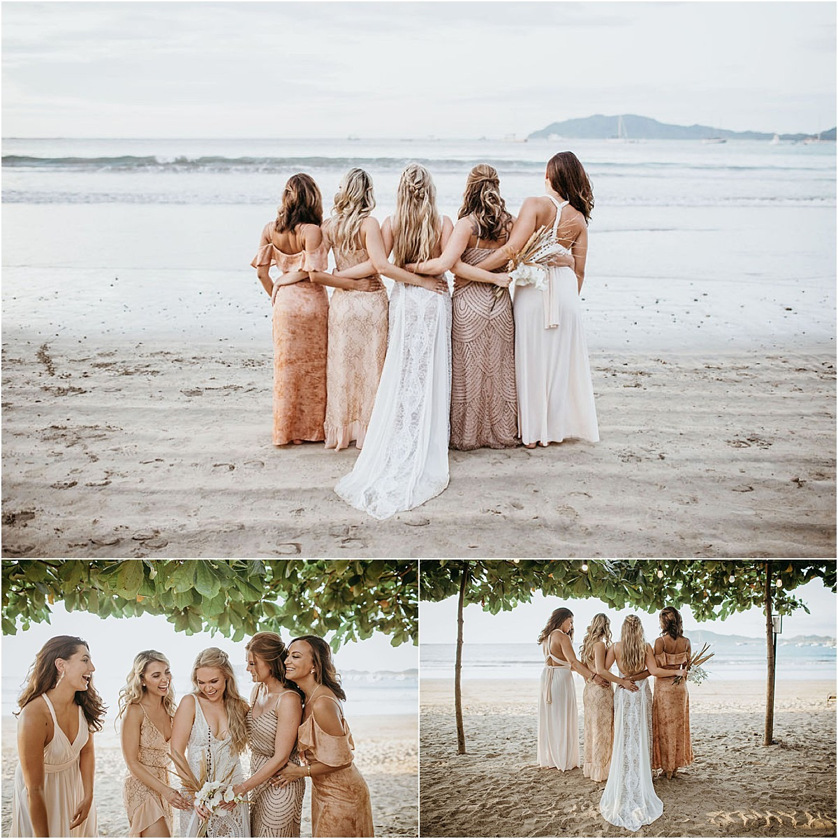 bridesmaids blush dresses