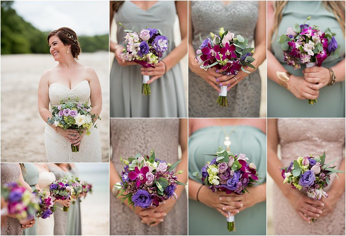 bridesmaids florals different
