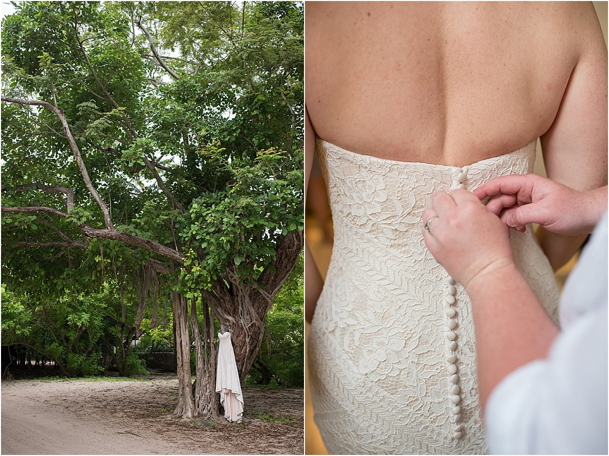 button up gown wedding