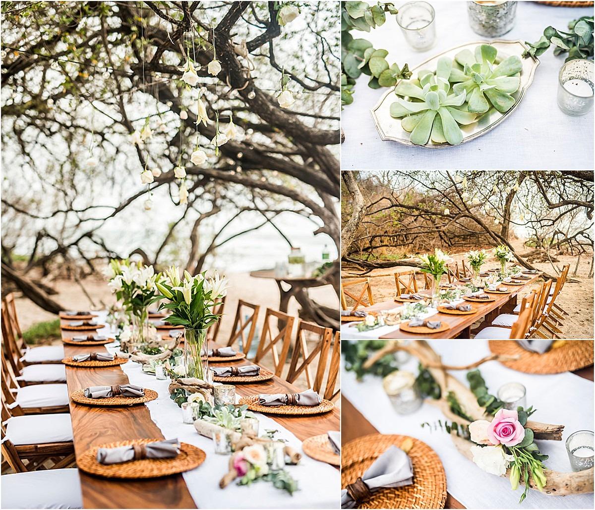 catering cala luna table top decor