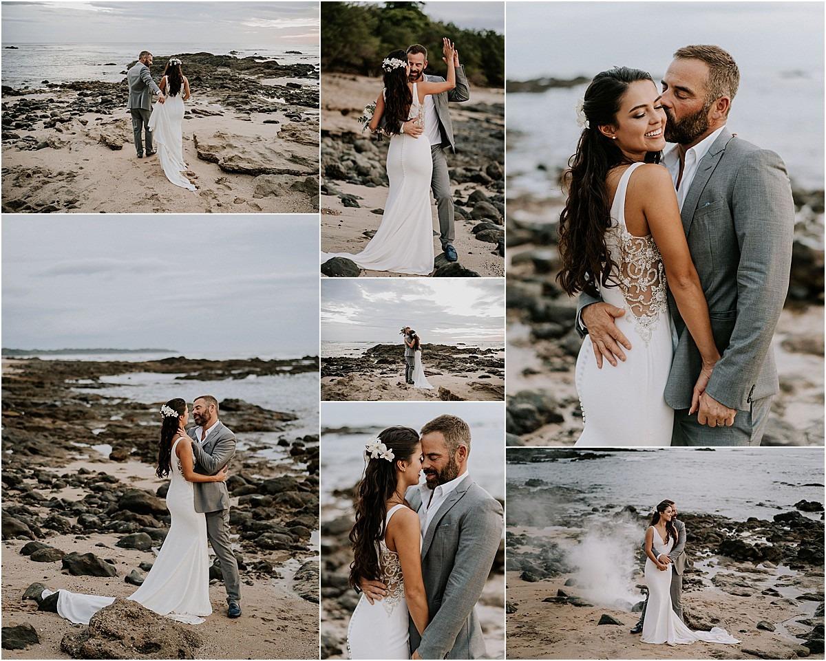 couples on the beach playa langosta