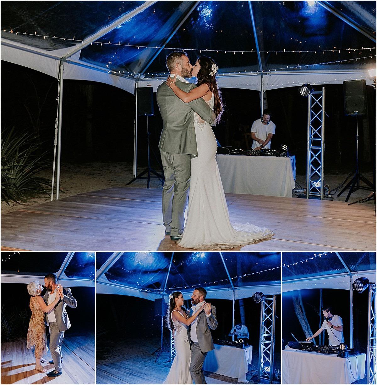 dancing under the tent in costa rica