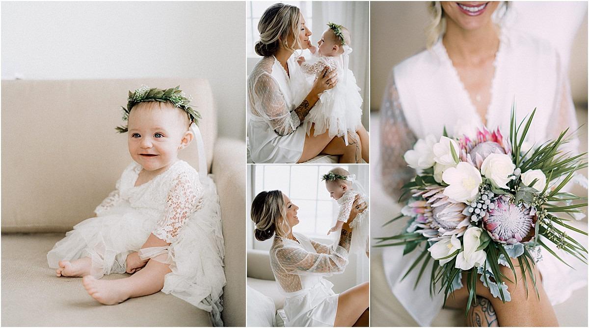 daughter floral crown wedding