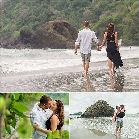 honeymoon on the beach in Manuel Antonio