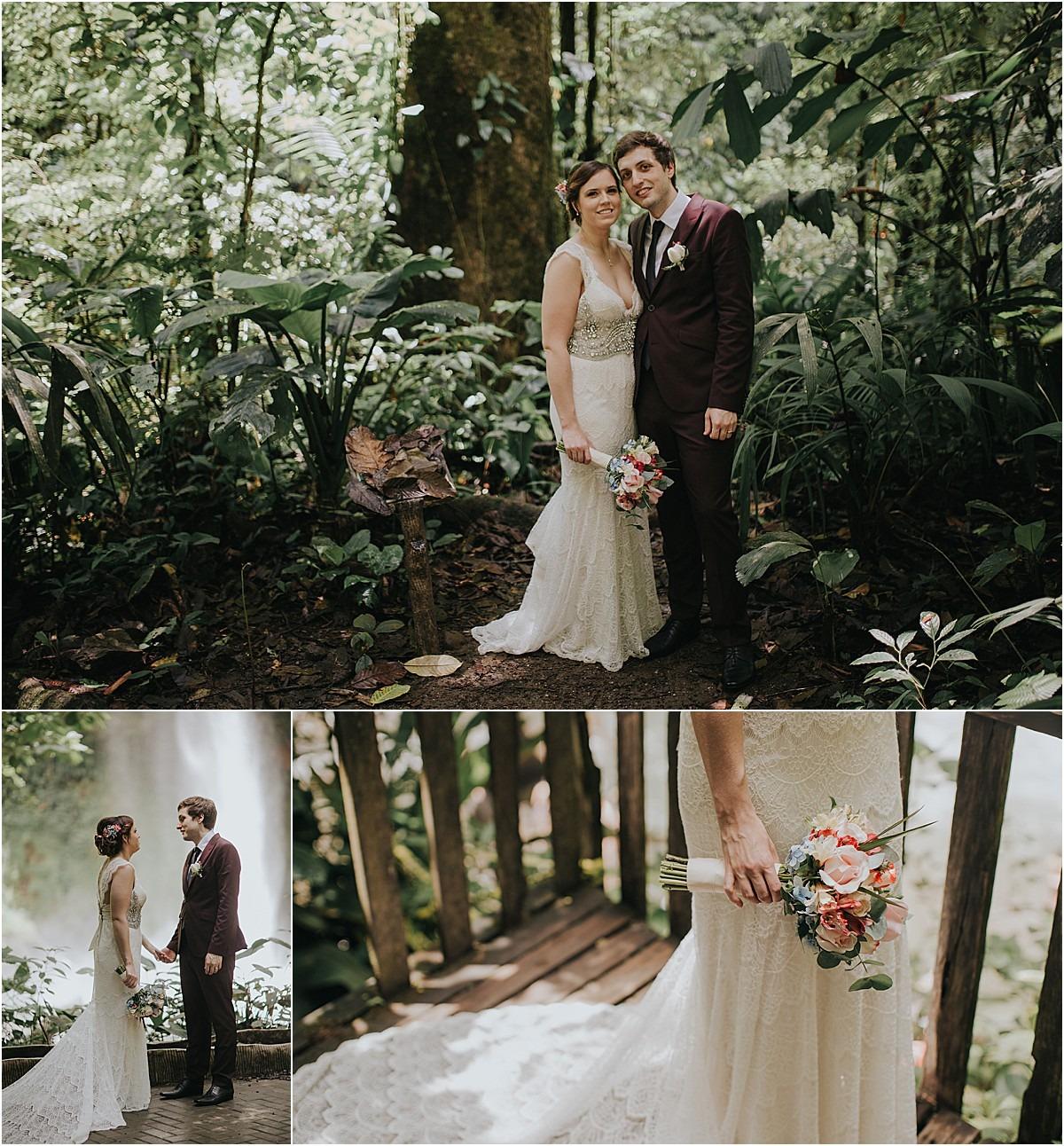 la fortuna waterfall elopement mornings