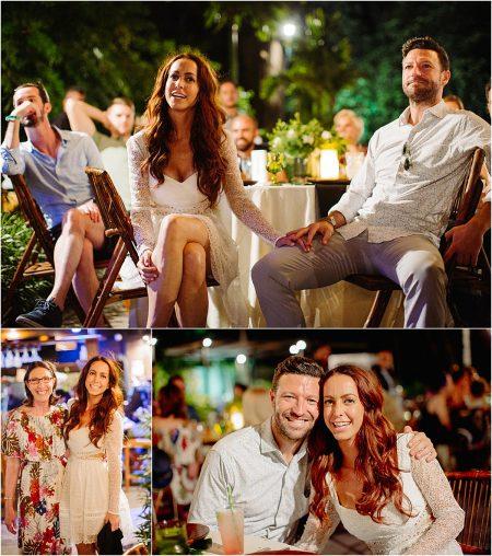 couple at Playa Langosta Wedding Rehearsal dinner