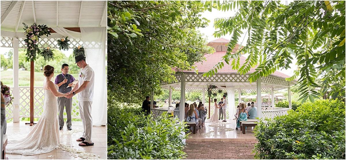 ourdoor gazebo wedding