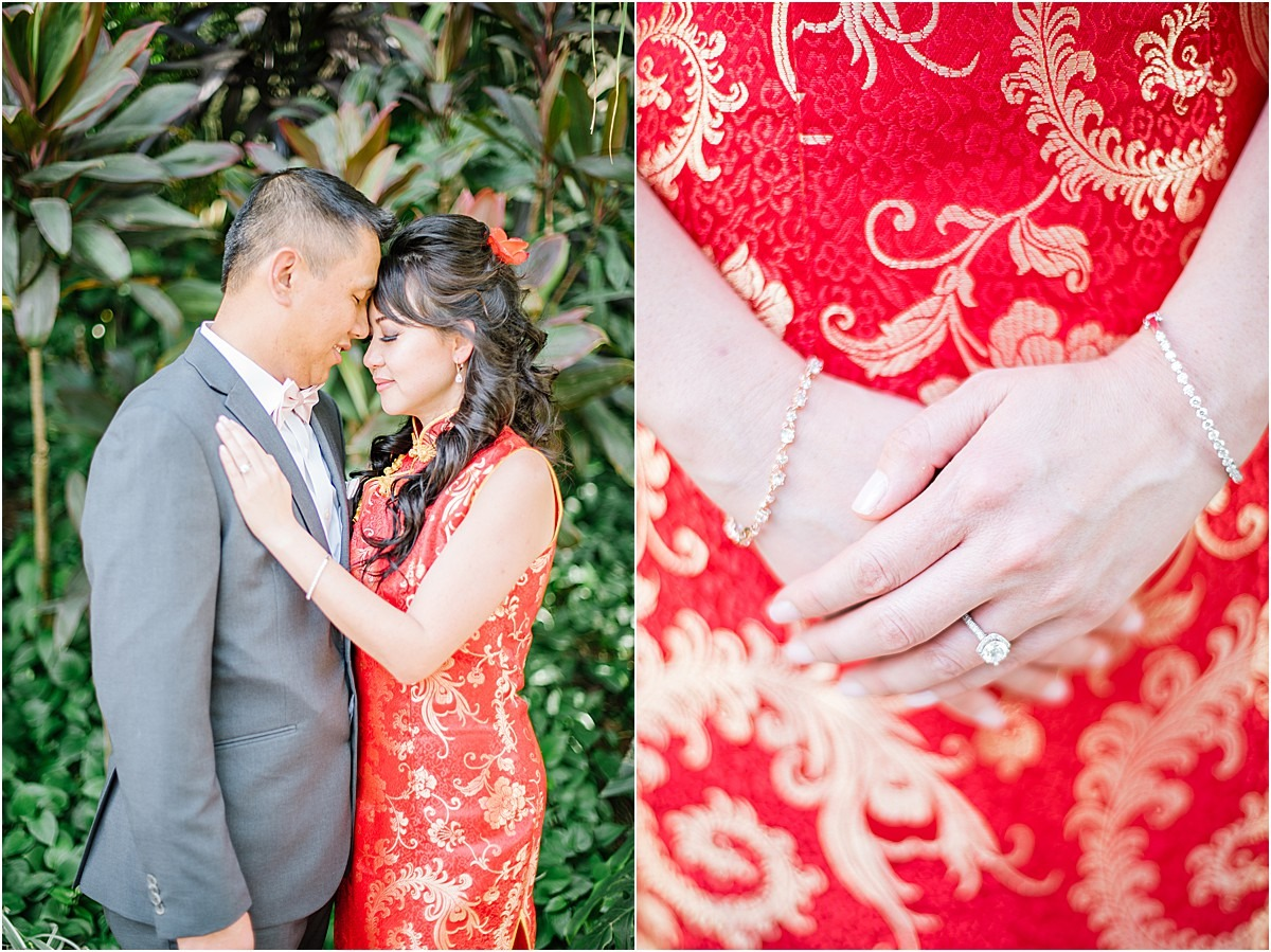 red asian wedding gown