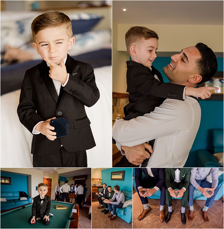 son and guys groom custom socks