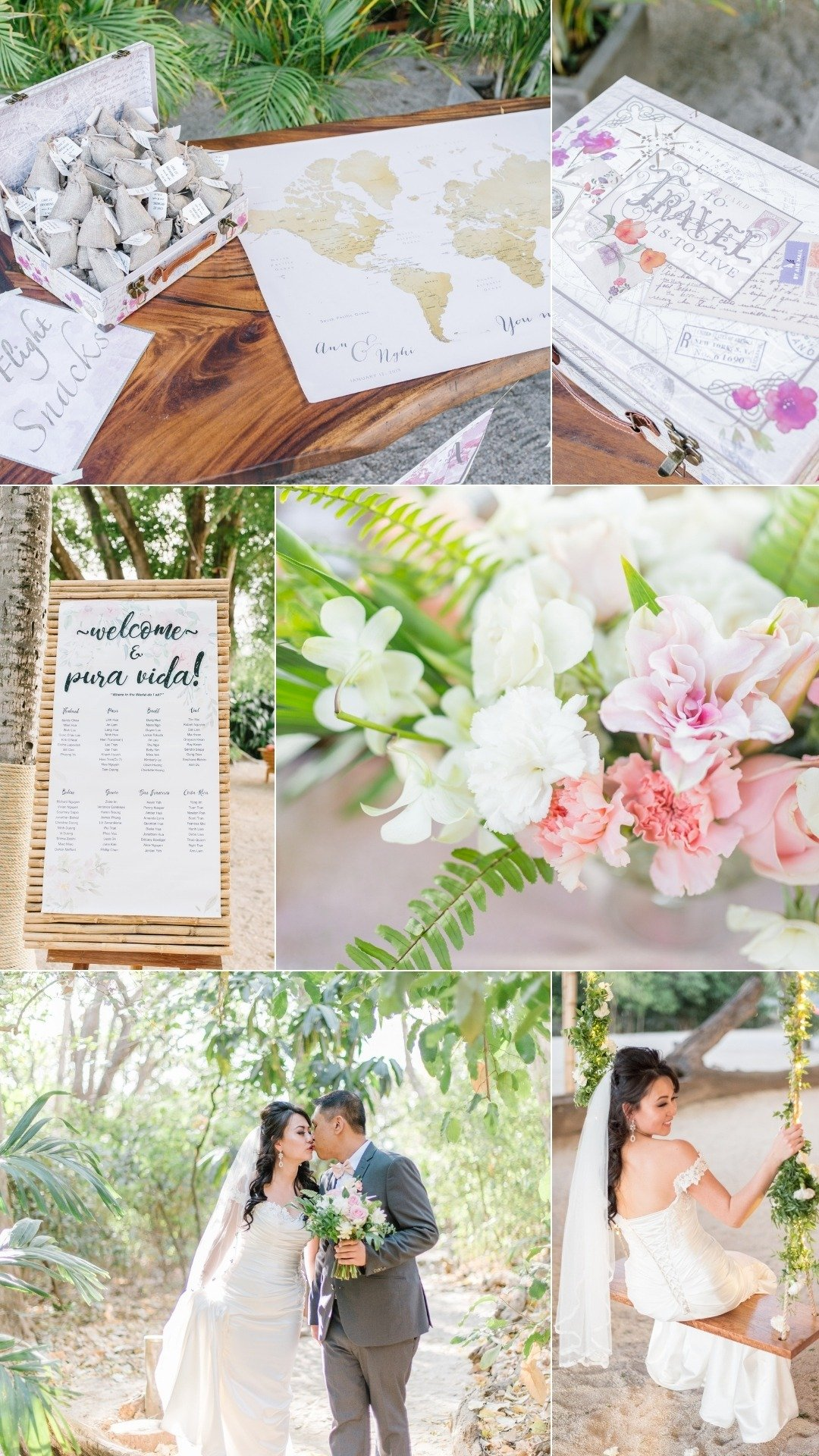travel suitcase wedding guest treats