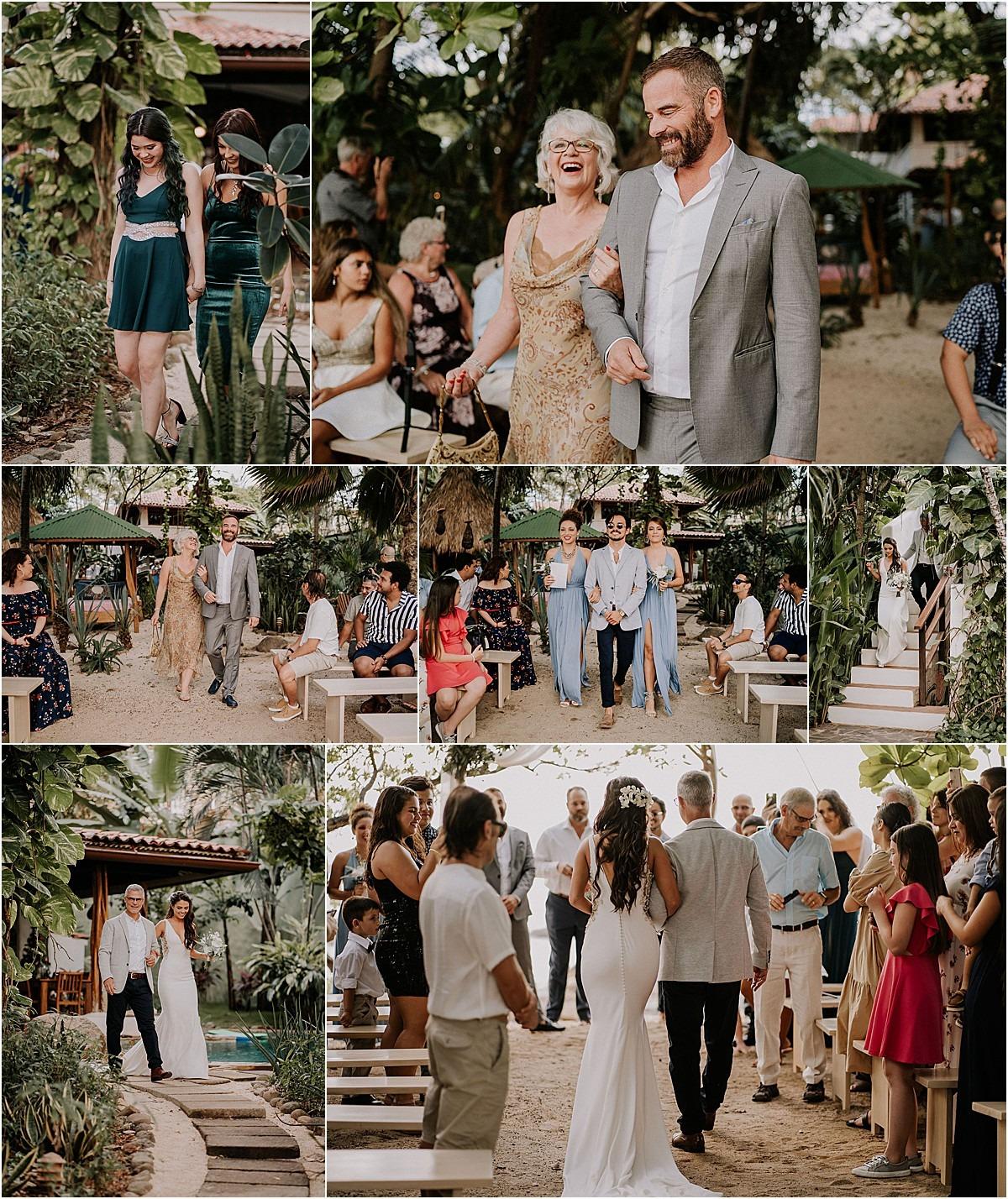 walking down the asile wedding ceremony sueno del mar