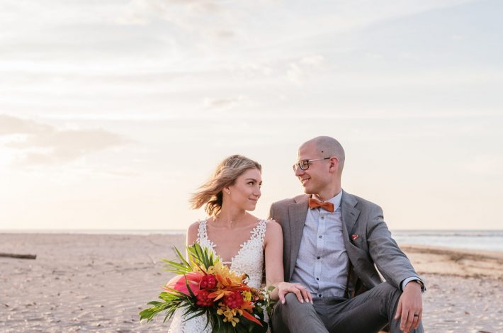Intimate destination beach wedding in Tamarindo Costa Rica