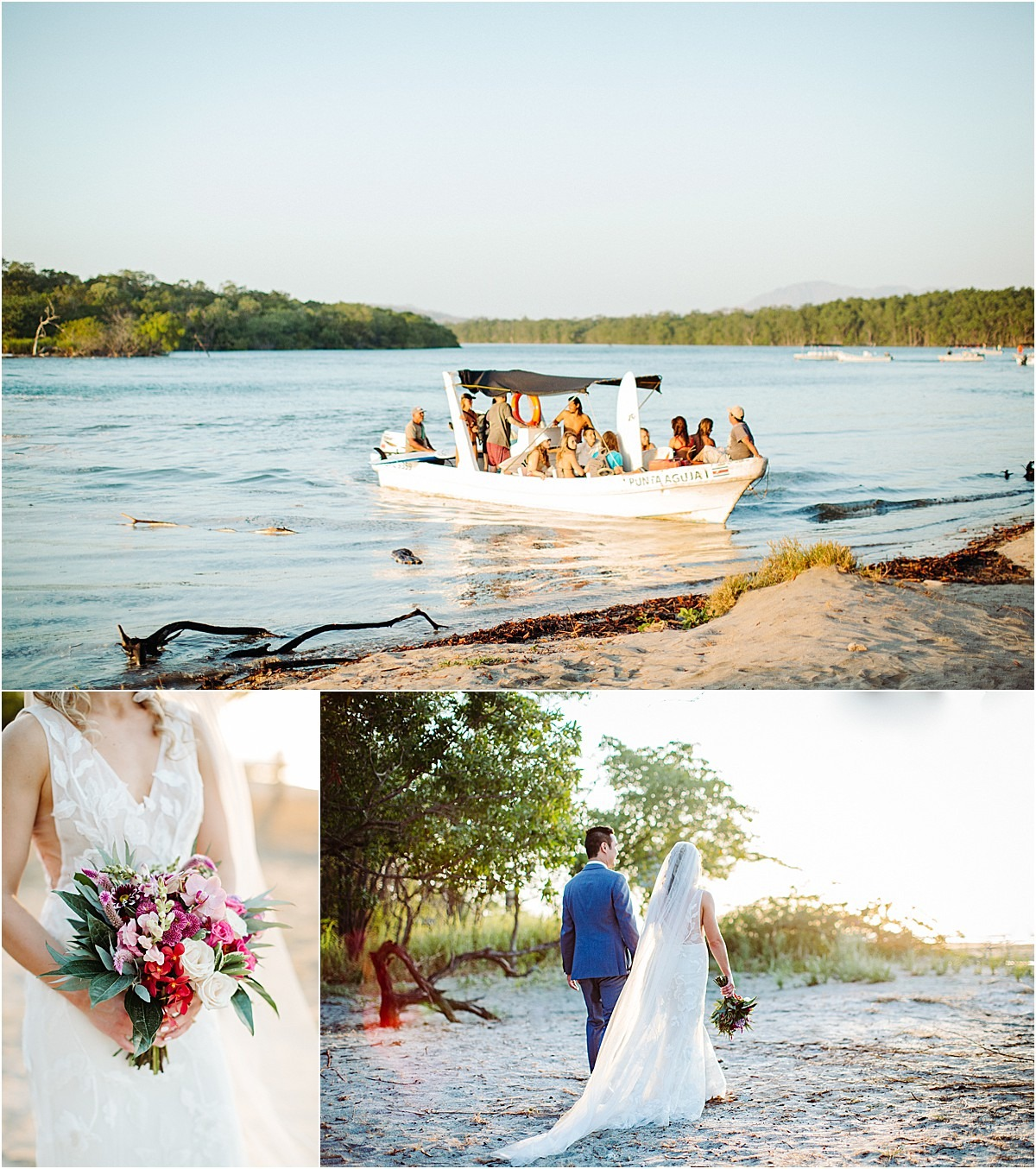 beach tamarindo wedding planner boat
