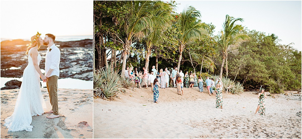 beach wedding in tama costa rica